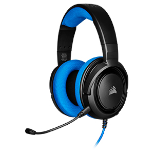 HEADSET AUDIFONOS GAMING CORSAIR HS35 Wired FOR PC PS4 XBOX One Blue